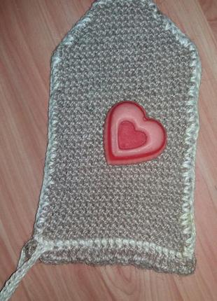Натуральная мочалка (рукавица) из джута ручной работы с эффектом пиллинга и скрабирования