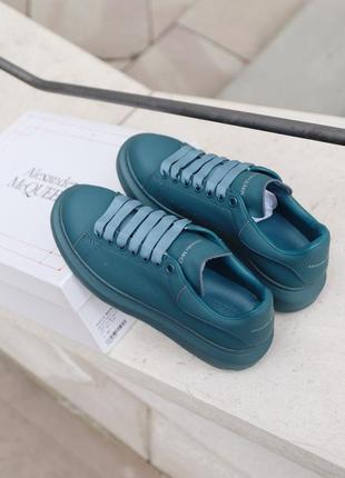 Alexander mcqueen moss matte синие ⭕ женские кроссовки ⭕ наложенный платёж
