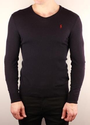 Шерстяной пуловер свитер polo by ralph lauren slim fit