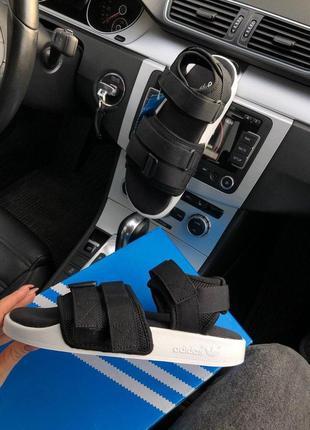 Женские босоножки adidas adilette sandal  ✰ черого цвета ✰ сандали 😻