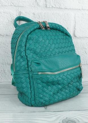 Стильный компактный рюкзак valensiy 648-707 зеленый, переплеты