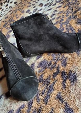 Замшевые утеплённые ботинки  passo avanti