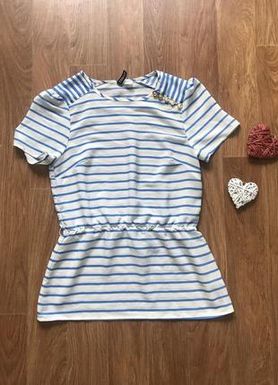 Стильная легкая блузка футболка h&m размер s
