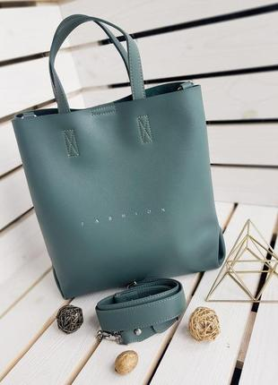 Скидка -50 грн кожаный шопер сумка