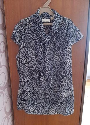 Женская шифоновая блузка с v вырезом