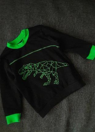 Коттонова кофта динозаврик/останній розмір