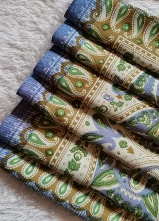 Платок атлас винтажный квадратный 82/82 повязка на голову бабушкин платок