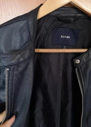 Легкая куртка kiabi италия, экокожа