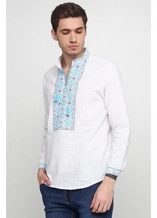 Вышиванка вишита сорочка з вишивкою льон р.46-56 кольори