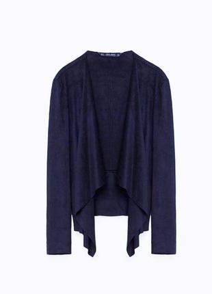 Замшевые темно синий кардиган пиджак накидка