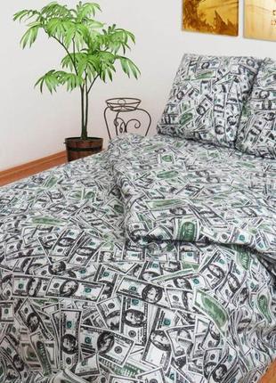 Постельное белье, постельное с долларами, постельное бязь