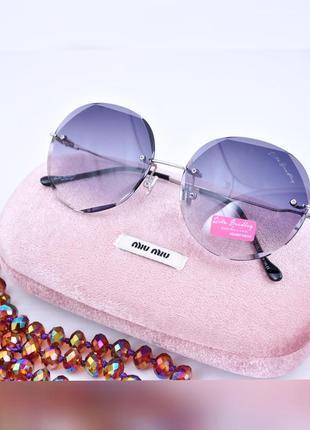 Красивые круглые  солнцезащитные градиентные очки rita bradley окуляри