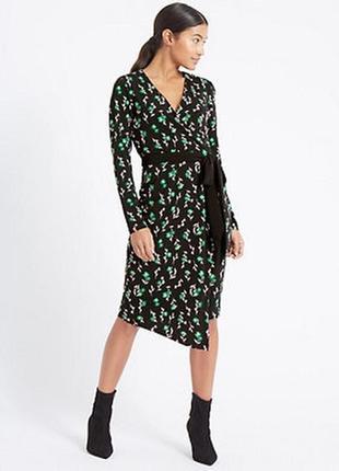 Красивое платье с єффектом запаха m&s