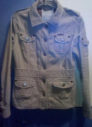 Качественный светлый вельветовый пиджак