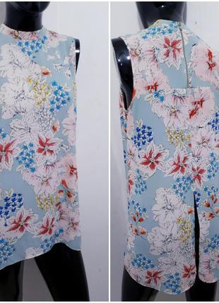 Сезонная скидка/шифоновая блуза в цветочный принт