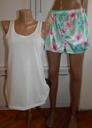 Atmosphere пижама скомбинированная трикотажная майка с атласными штанишками р10-12