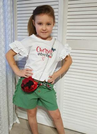 Cumino літній костюм для дівчинки.