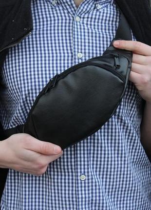 Поясна сумка на пояс через плече бананка екошкіра