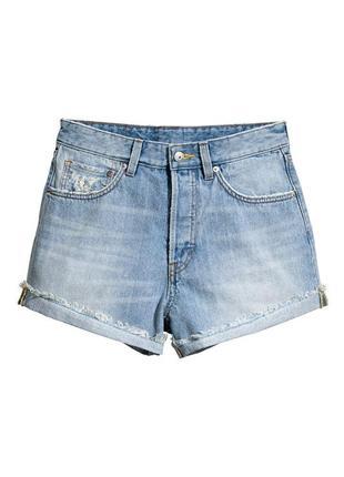 Шорты джинс джинсовые s коттон коттоновые 40 высокая талия высокой талией m джинс