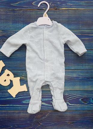 Теплый человечек, слип, пижама для новорожденного f&f