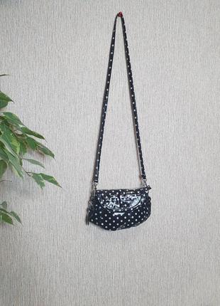 Стильная лаковая сумочка, поясная сумка в горошек atmosphere