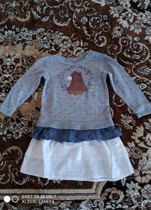 Трикотажное платье 98-104