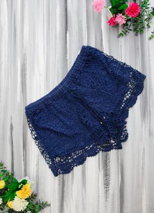 Miss n.r.g. кружевные шорты синие