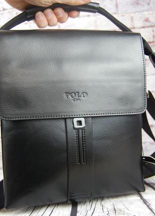 Мужская сумка-планшет polo с ручкой. барсетка мужская. размер(в см) 25 на 21 кс91