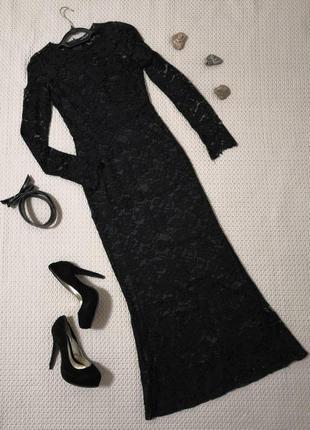 Длинное гипюровое платье dolce & gabbana | р. 42-44