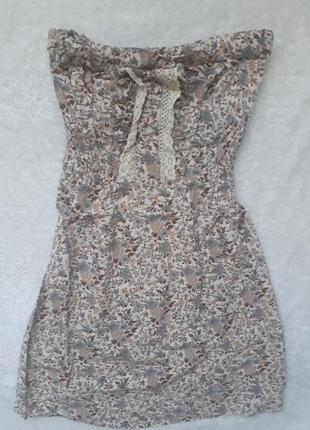 Платье цветочний принт