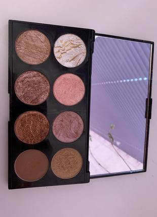 Палетка хайлайтерів і румян makeup revolution ultra blush ultra blush