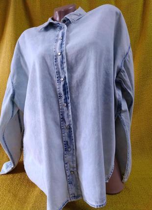 Джинсова сорочка-розлітайка