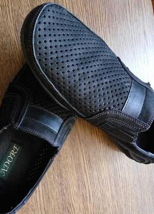 Весенние/летние туфли,мокасины кожа/нубук