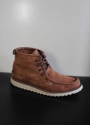 Оригинал lacoste harbison mens laced leather boots brown - 11 ботинки