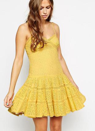 Сарафан,платье перфорация,прошва,кружево needle&thread xs-s