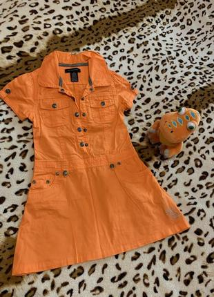Оранжевое платьице calvin klein