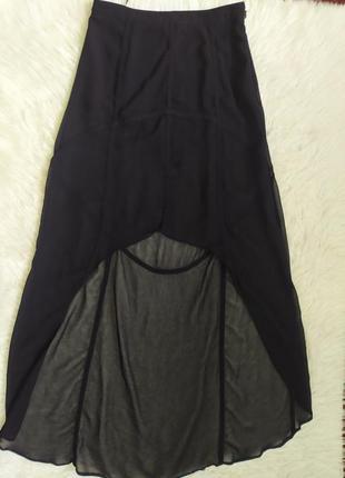 Эффектная полупрозрачная юбка