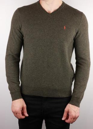 Фирменный пуловер мериносовая шерсть