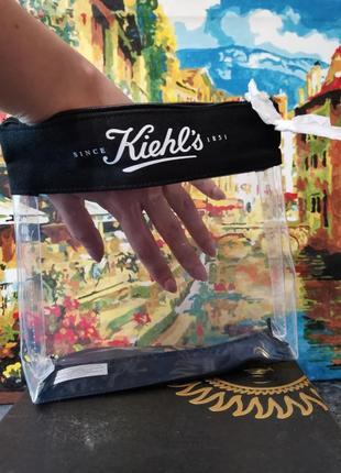 Прозрачная вместительная косметичка kiehls, в дорогу