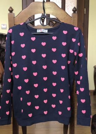 Красивая кофта с сердечками, размер s/m