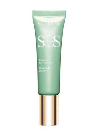 Clarins база под макияж, корректирующая покраснения sos primer (тестер)