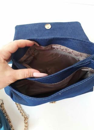 Джинсовый клатч, джинсовая сумка3 фото