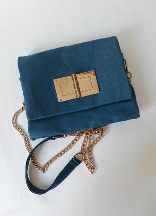 Джинсовая сумка, джинсовый клатч