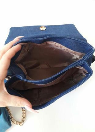 Джинсовая сумка, джинсовый клатч2 фото