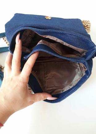 Джинсовая сумка, джинсовый клатч3 фото