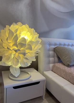 """Прикроватная лампа цветок-ночник """"мини-георгин"""" с led в детскую"""