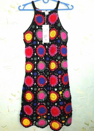 Платье вязанное крючком.