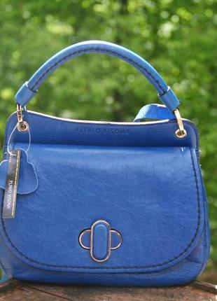 Кожаная сумка итальянского бренда,весна/лето 2020