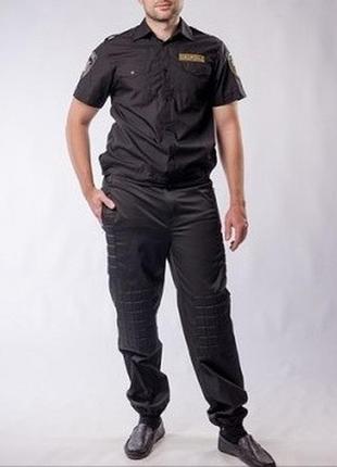 Новые мужские черные брюки штаны летняя форма охранника