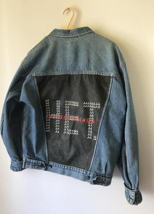 Джинсовая куртка джинсовка oversize custom